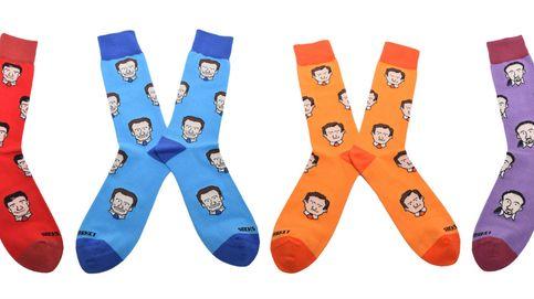 Lo último en campaña electoral: calcetines con las caras de los líderes políticos
