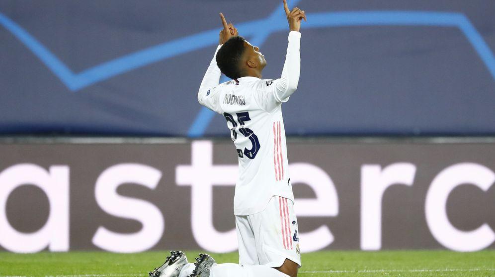 Foto: Rodrygo celebra el gol del triunfo contra el Inter de Milán. (EFE)