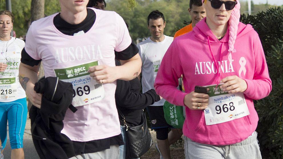 Bimba Bosé corre en pareja contra el cáncer