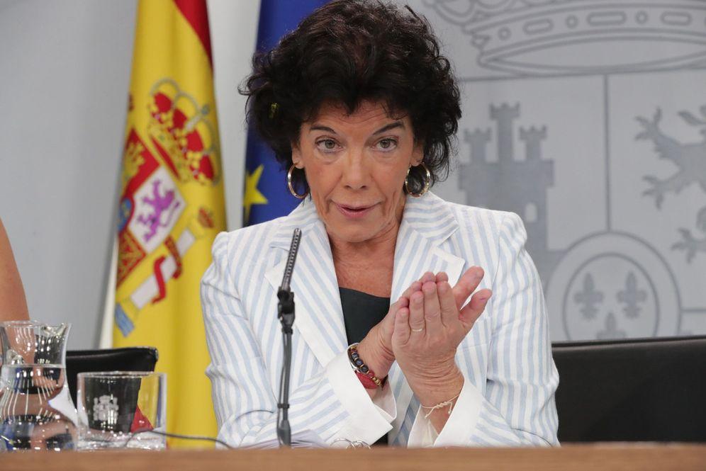 Foto: La portavoz del Gobierno, Isabel Celaá, este 7 de septiembre en la Moncloa. (EFE)