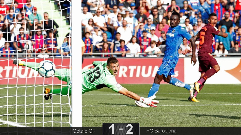 Foto: El primer gol de Paulinho en España fue el 1-2 del FC Barcelona en Gatafe. (Reuters)
