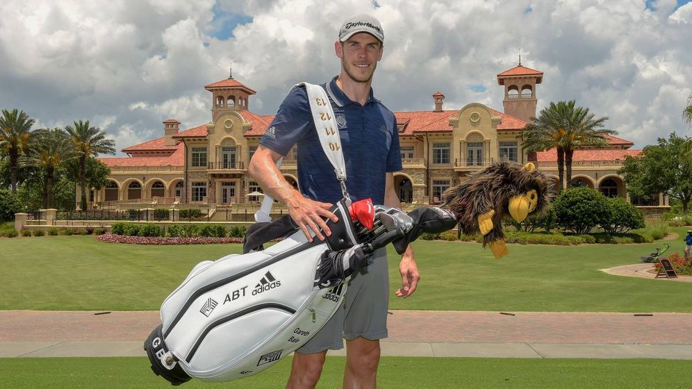Foto: Gareth Bale con su bolsa de palos de golf. (@GarethBale11)