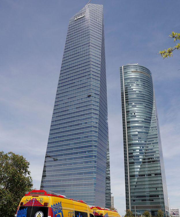 Foto: Torre Espacio, evacuado el día de la falsa alarma. (EFE)