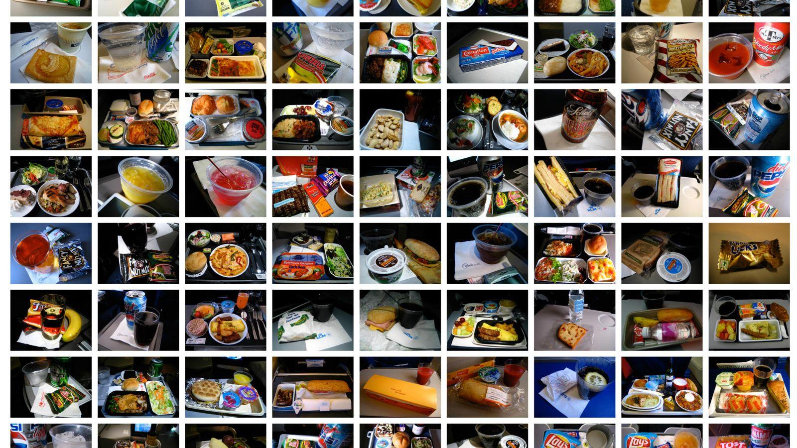 Foto: 'Collage' con comidas que Hasan ha degustado. (Hasan Elahi)