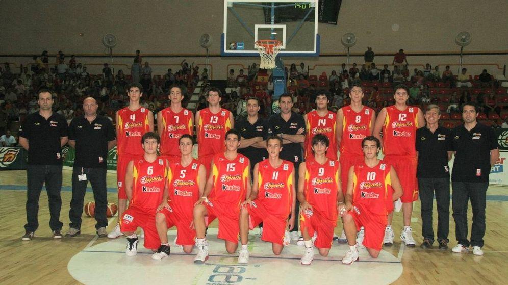 Foto: Selección española cadete de 2006 al completo, con Ricky Rubio (dorsal nueve).