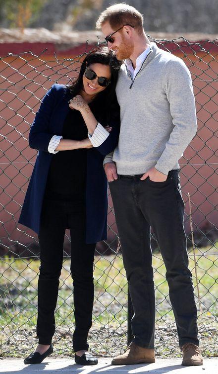 Foto: Meghn y Harry, felices. (Reuters)