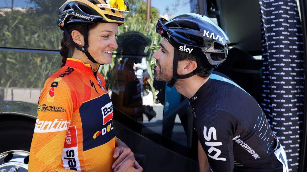 Foto: Al menos en la Vuelta a su país, Lizzie Deignan aspira al mismo premio que su marido Philip Deignan en la prueba masculina. (Reuters)