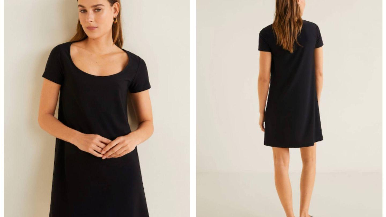 El vestido de color negro. (Cortesía)