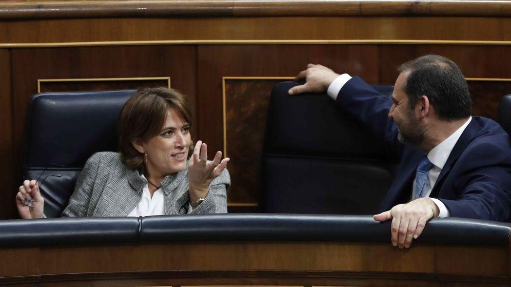 Foto: La exministra y Ábalos en el Congreso. (EFE)