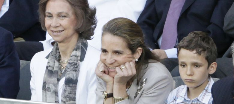 Foto: La Reina, la Infanta Elena y Froilán en una imagen de 2010 (I. C)