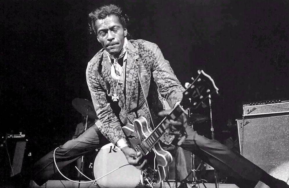 Foto: Chuck Berry en acción.