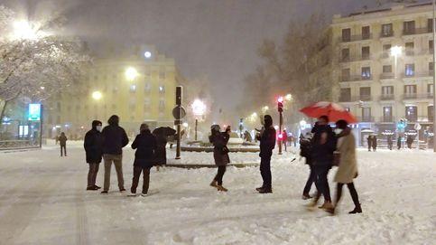 El peligro de seguir por las redes sociales la nevada del siglo en Madrid