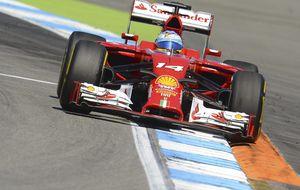 Alonso y Ferrari, ante el desafío de manejar la 'sartén' de Hockenheim