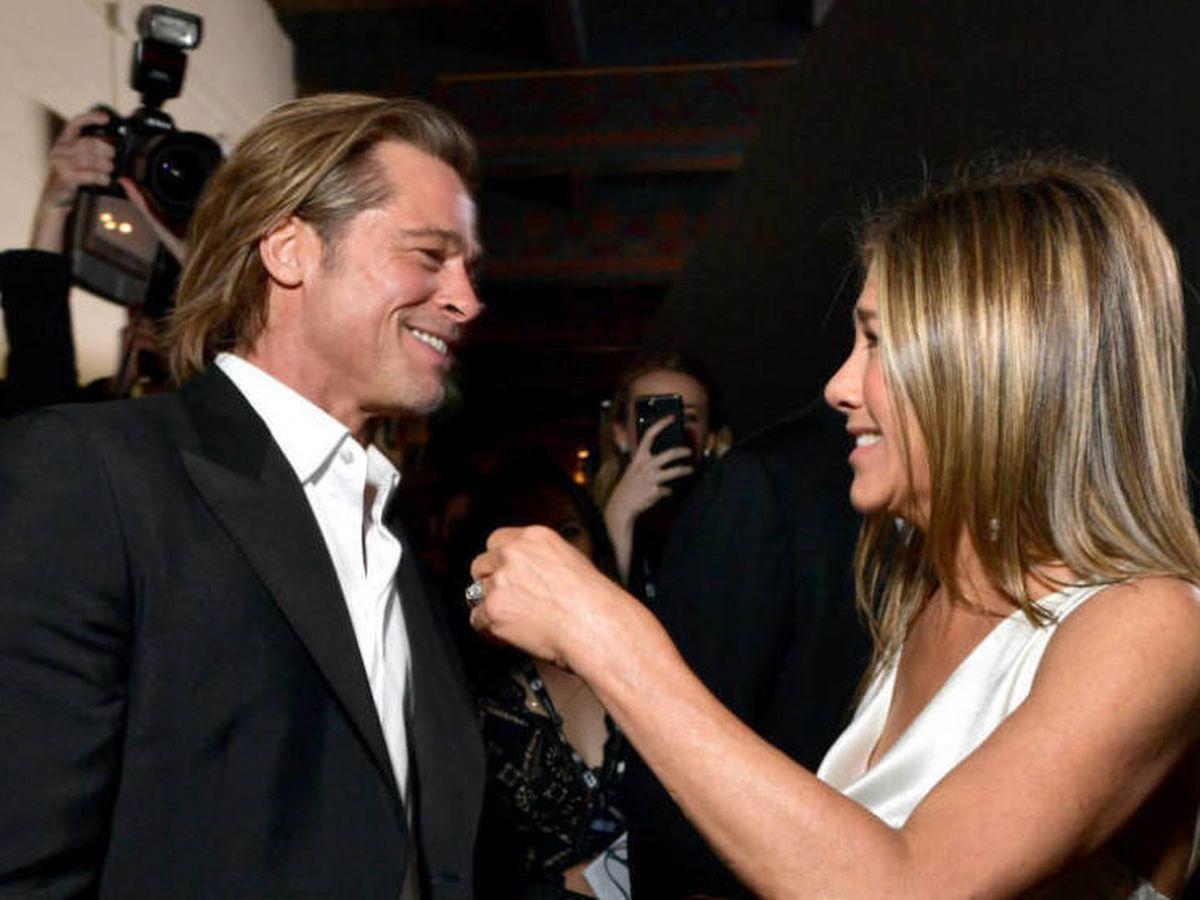 Foto:  Pitt y Aniston en los SAG. (Getty)