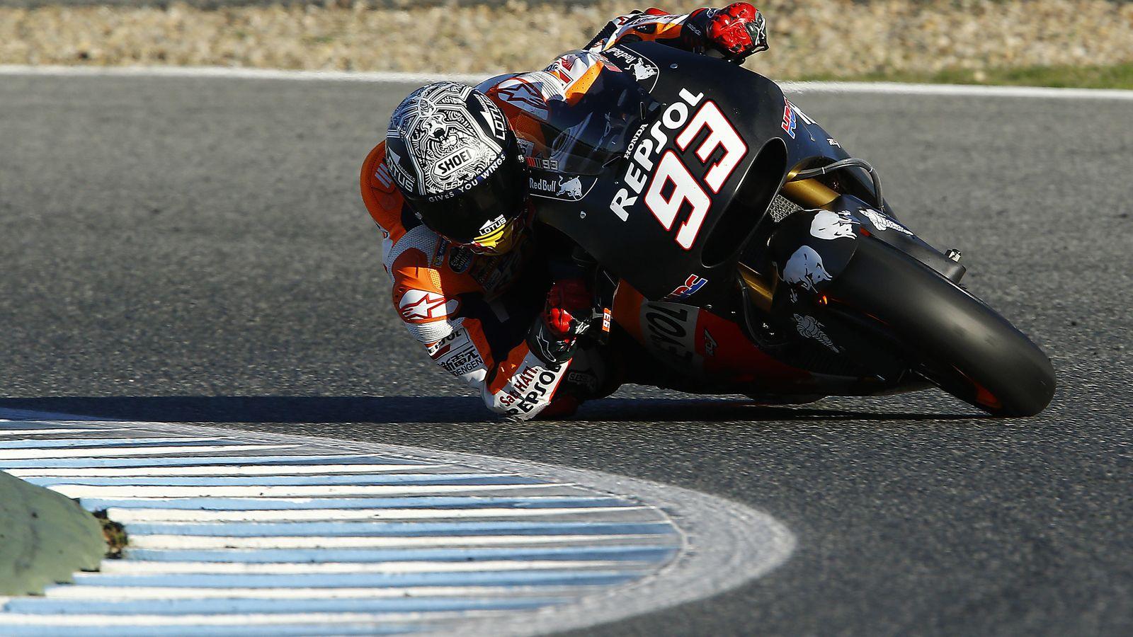 Foto: Marc Márquez en los test de Jerez (Repsol Media).