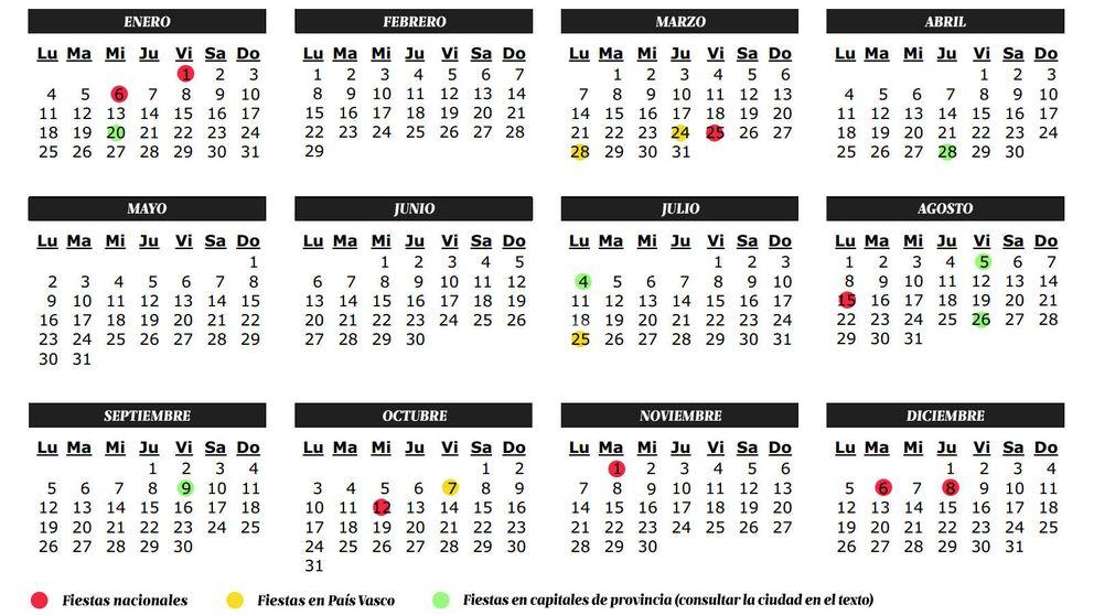 Calendario de fiestas 2016 en País Vasco: Semana Santa, puentes, festivos y días libres