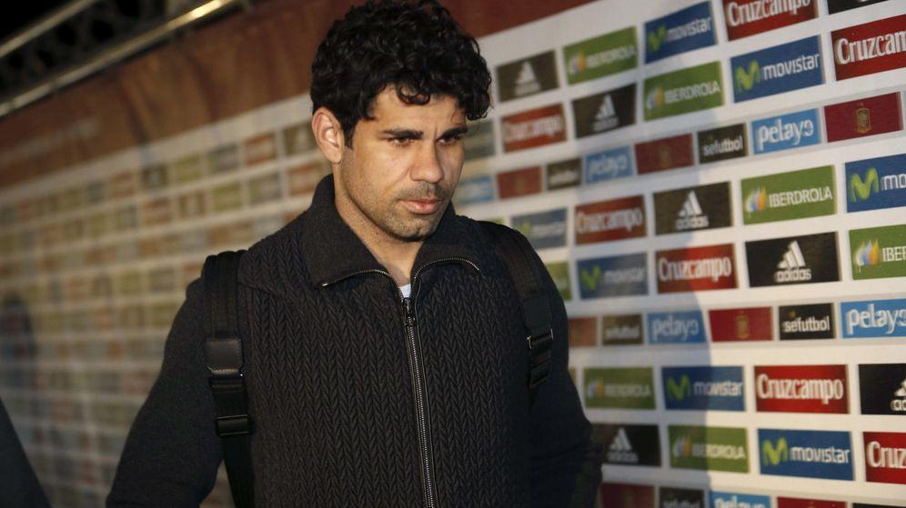 Foto: Diego Costa abandona la concentración de la selección española por culpa de su lesión.