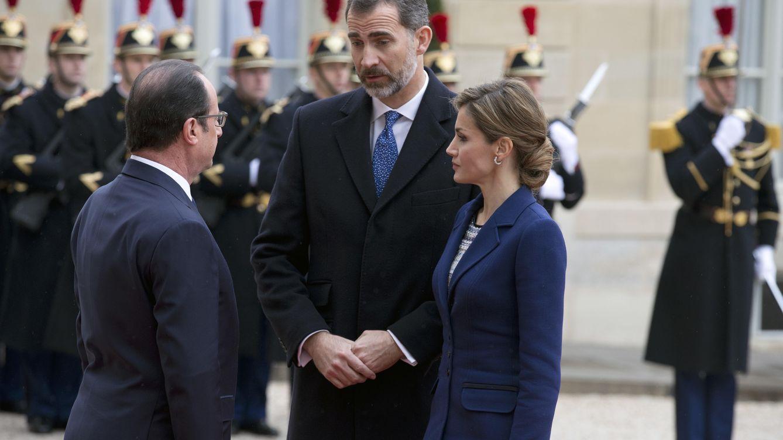 Foto: Los Reyes de España junto al presidente francés François Hollande (Gtres)