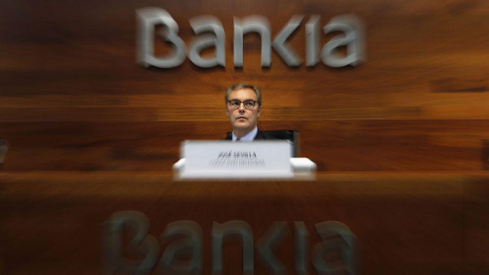 Foto: El consejero delegado de Bankia, José Sevilla, durante la presentación de los resultados de la entidad. (EFE)