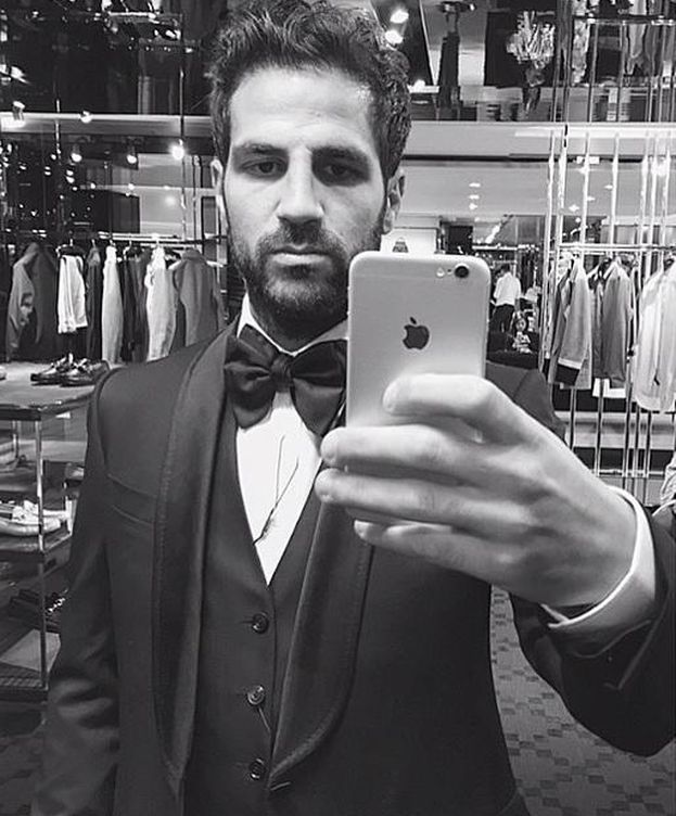 Foto: Cesc Fábregas tras operarse la nariz (Instagram)