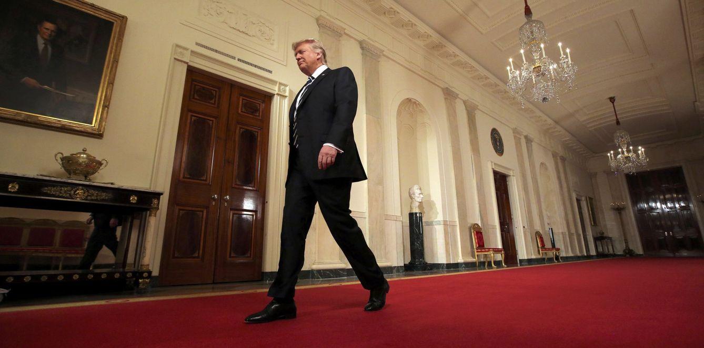 Foto: El presidente de EEUU Donald Trump antes de anunciar la nominación de Neil Gorsuch para el Tribunal Supremo, en la Casa Blanca, Washington. (Reuters)
