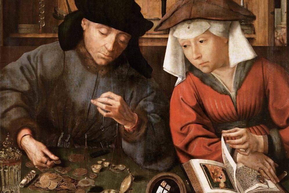Foto: 'El cambista y su mujer'. (Museo del Prado)
