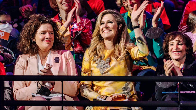 La reina, en los ensayos de Eurovisión. (Casa Real Holandesa)