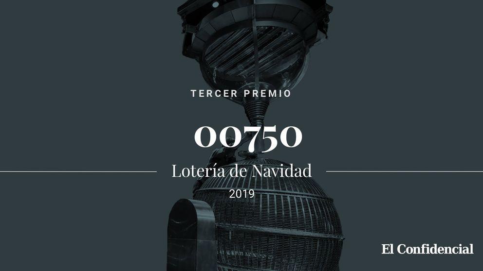 Sale el tercer premio de la Lotería de Navidad: el 00750 entrega 500.000 euros
