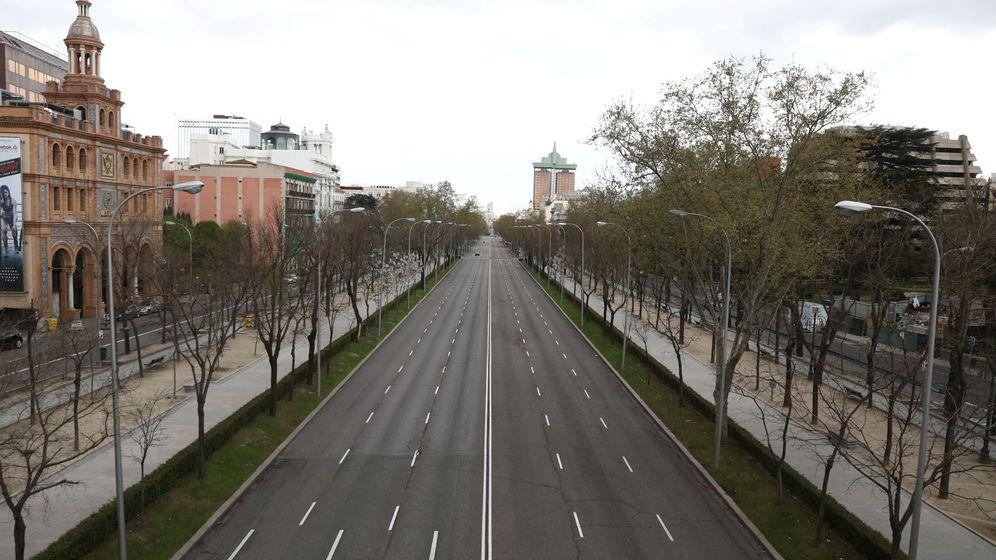 Foto: El Paseo de la Castellana de Madrid tras el confinamiento. (Reuters)