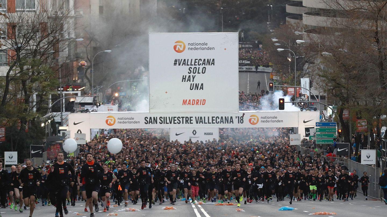 42.500 corredores participaron en la San Silvestre Vallecana. (EFE)