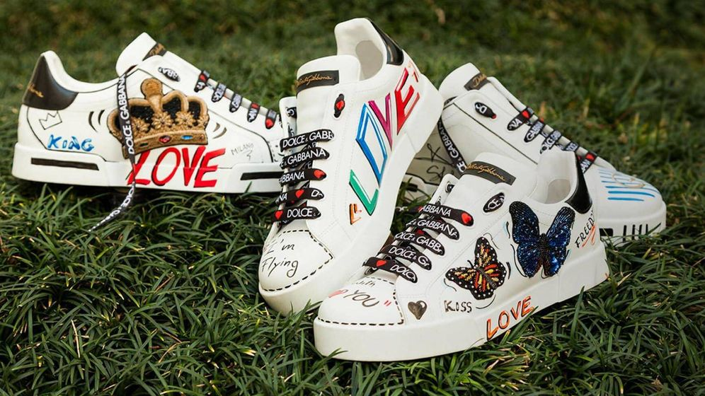 Foto: Las zapatillas se han reinventado en el mercado del lujo (Imagen de la campaña de Dolce