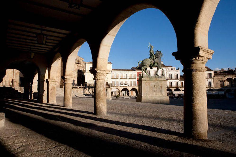 Foto: La Plaza Mayor de Trujillo es, como todo el pueblo, de película. (Foto: Turismo de Extremadura)