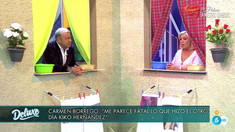Jorge Javier y Carmen Borrego. (Telecinco).