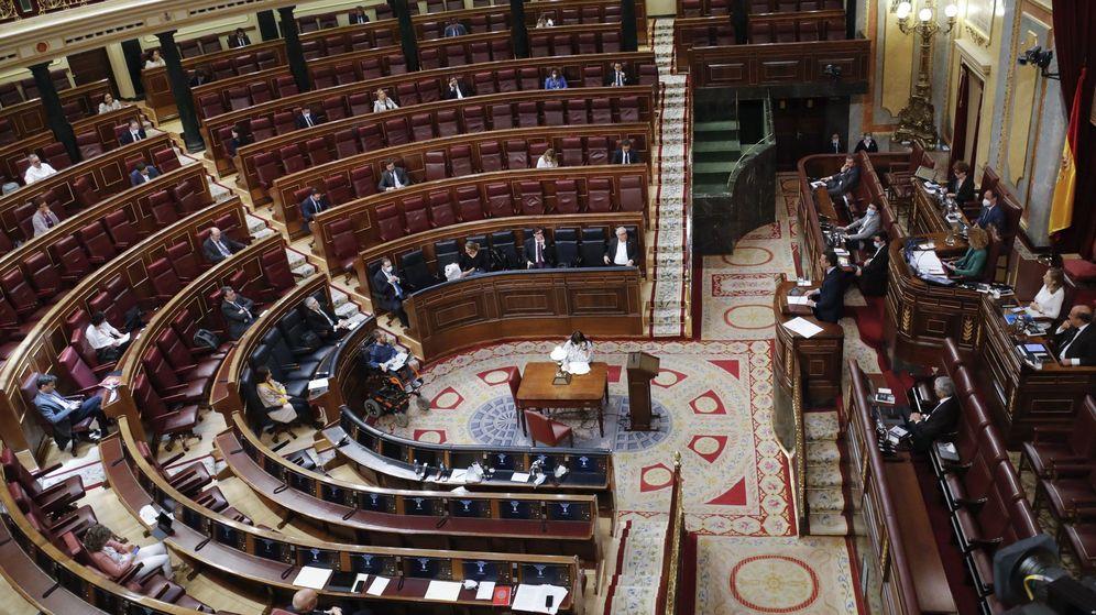 Foto: El Congreso de los Diputados, durante la sesión de este miércoles. (EFE)