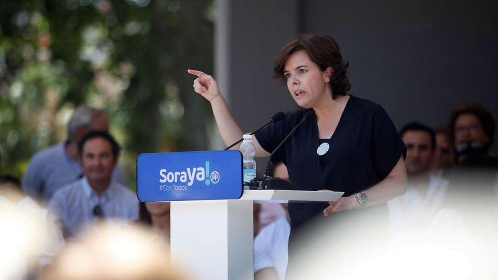 Foto: La exvicepresidenta del Gobierno y candidata a la Presidencia del PP, Soraya Sáenz de Santamaría. (EFE)