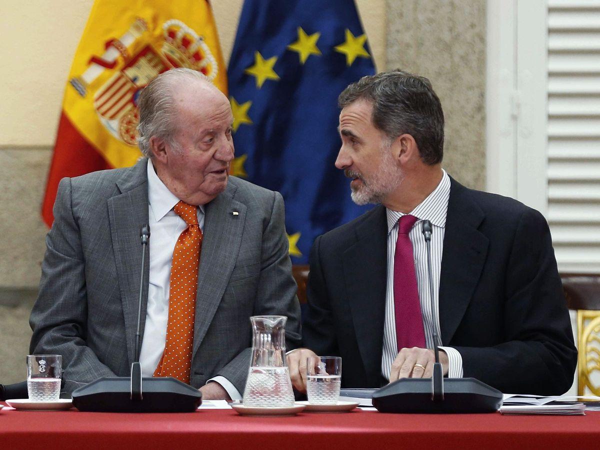 Foto: El rey Felipe y su padre, en mayo pasado. (EFE)