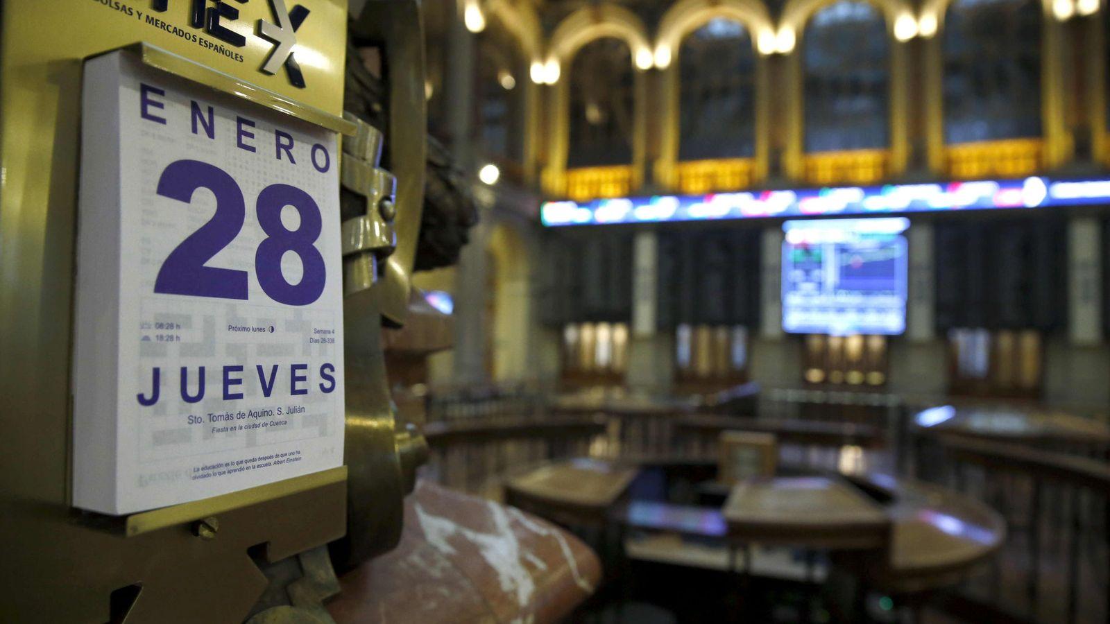 Foto: Salón de la Bolsa de Madrid. (EFE)