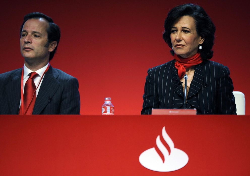 Foto: Javier Marín, junto a Ana Patricia Botín (Reuters)