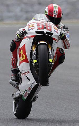 Marco Simoncelli vuelve a marcar el ritmo en la segunda sesión de MotoGP