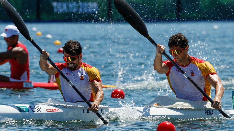 Cubelos y Peña, durante la final. (Efe)