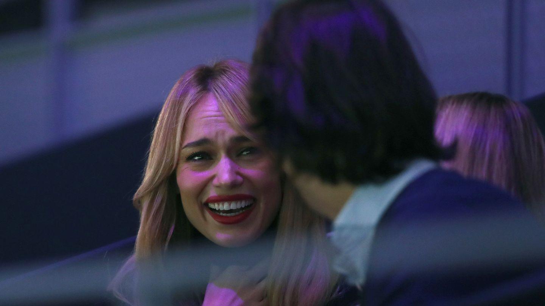 Patricia Conde durante la semifinal de la Copa Davis entre el español Feliciano López y el británico Kyle Edmund. (EFE)