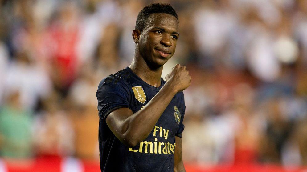 Foto: Vinicius durante el segundo partido de pretemporada contra el Arsenal. (Efe)
