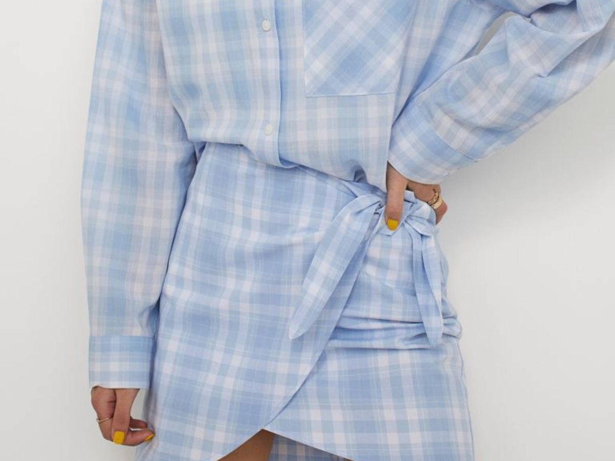 Foto: La minifalda pareo de HyM en su versión estampada. (Cortesía)