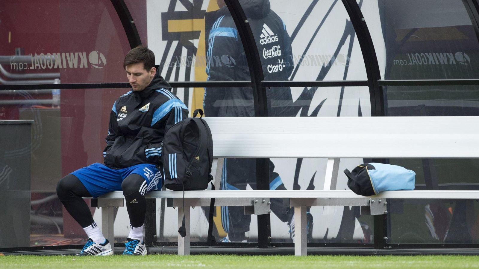 Foto: Leo Messi durante los amistosos que disputó Argentina (Efe).