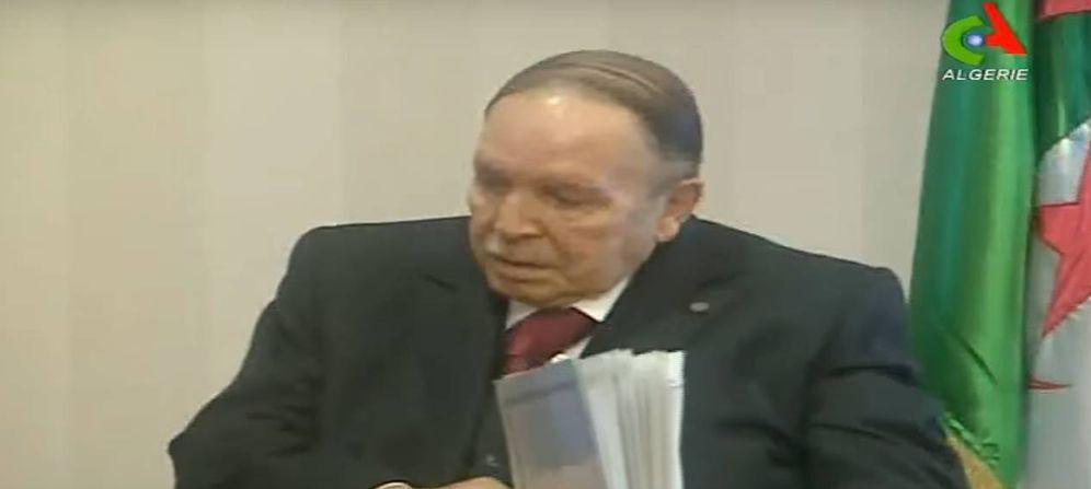 Foto: Captura de pantalla del video del presidente Bouteflika en la televisión argelina