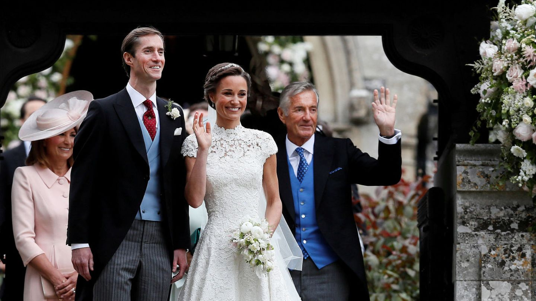 David Matthews junto a James Matthews y Pippa Middleton. (Reuters)