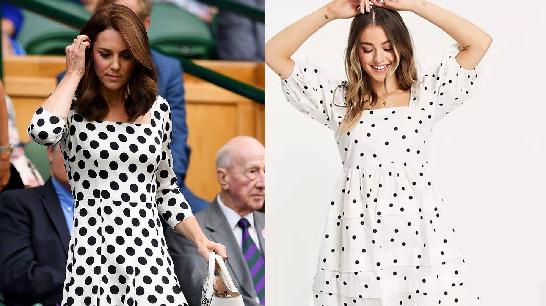Kate Middleton en Wimbledon / Vestido de Asos. (Getty / Cortesía)
