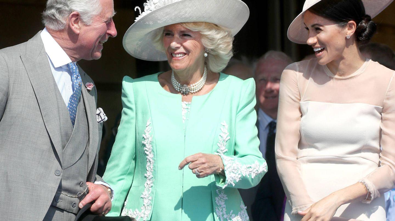 Los duques de Cornualles, uno de los principales apoyos de Markle en palacio. (Getty)