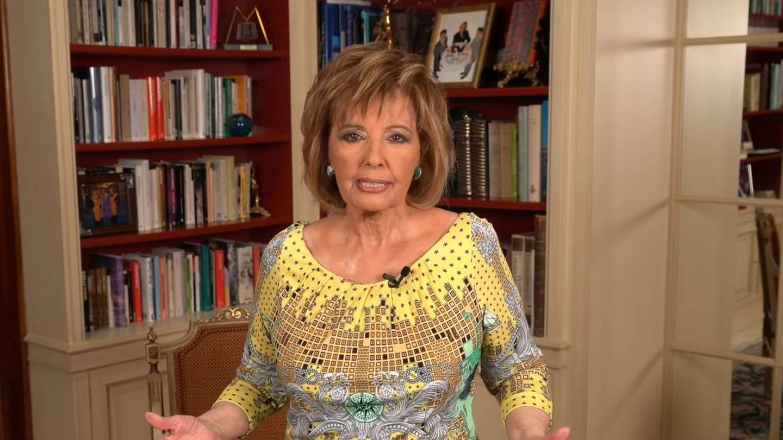 María Teresa Campos, en 'Enredados', su espacio en su canal de YouTube. (Captura)