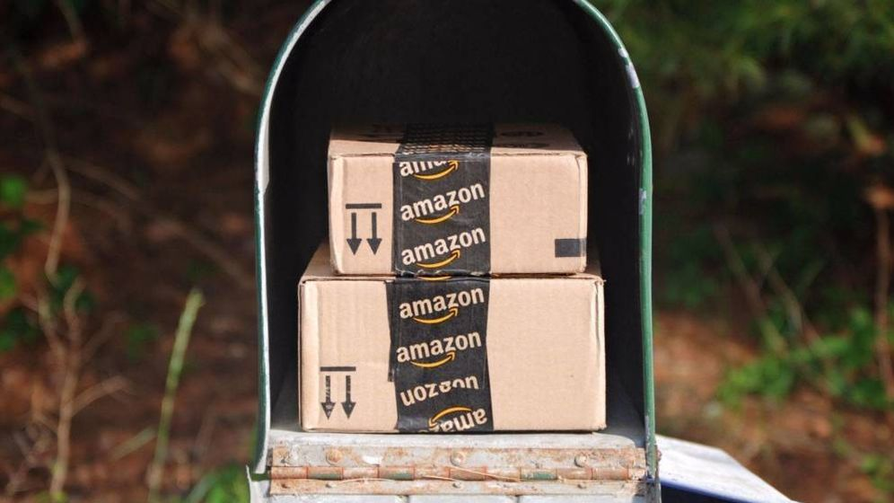 Foto: Imagen de archivo de paquetes de Amazon